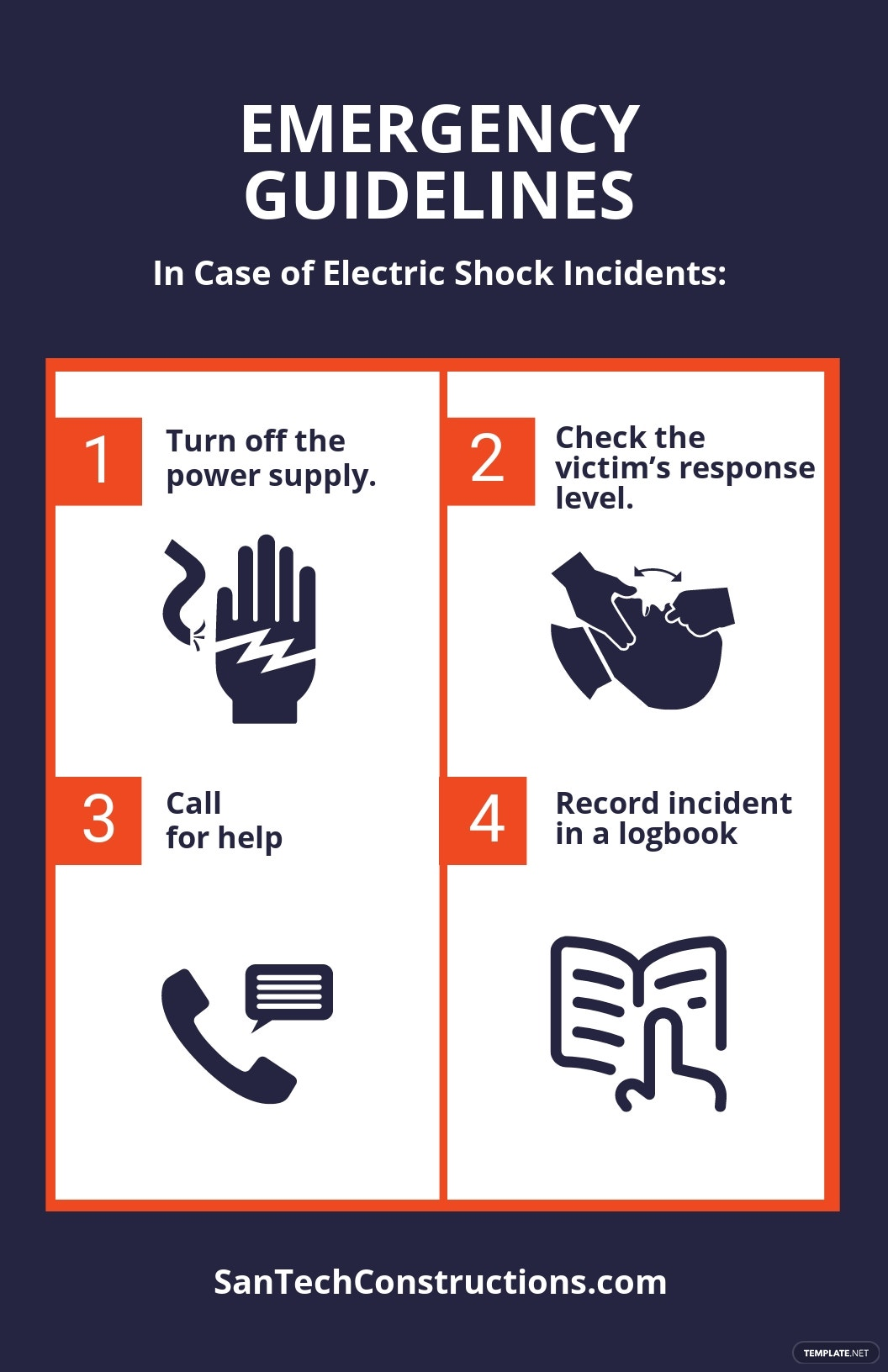 Free Electric Shock Poster Template.jpe