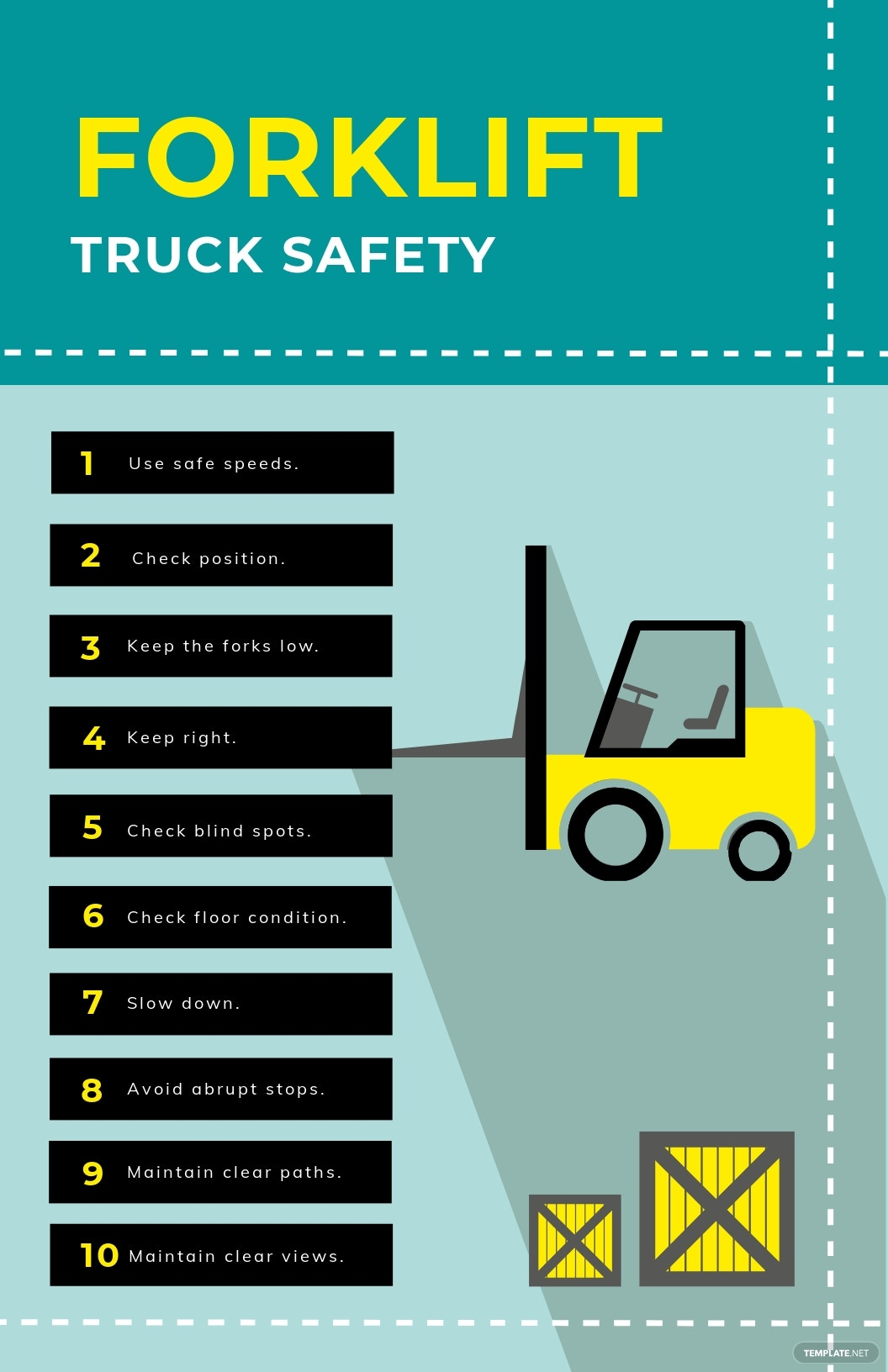 Forklift Truck Safety Poster Template