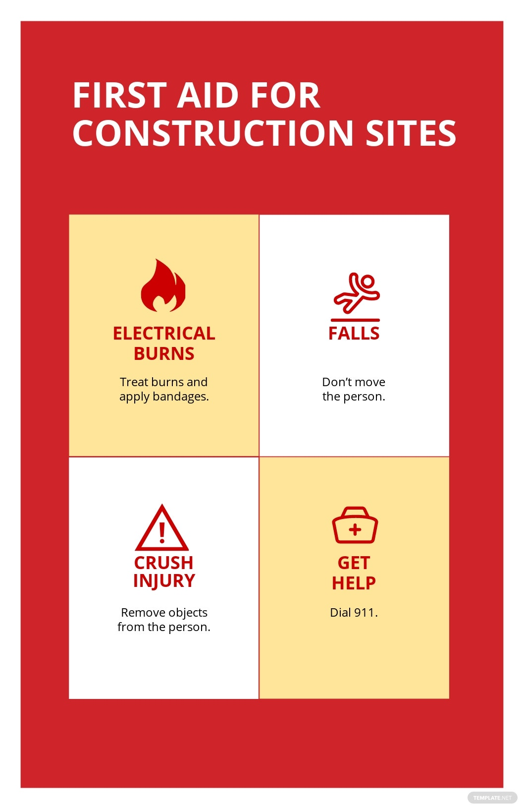First Aid for Construction Sites Poster Template.jpe