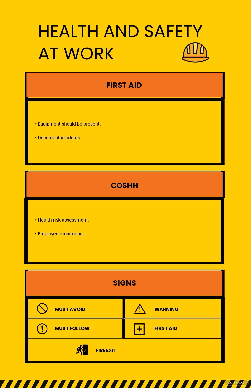 Health & Safety at Work Guide Poster Template