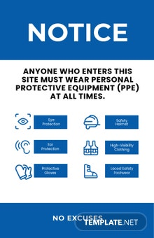 Personal Protective Equipment (PPE) Poster Template