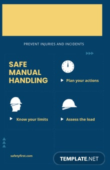 Safe Manual Handling Poster Template