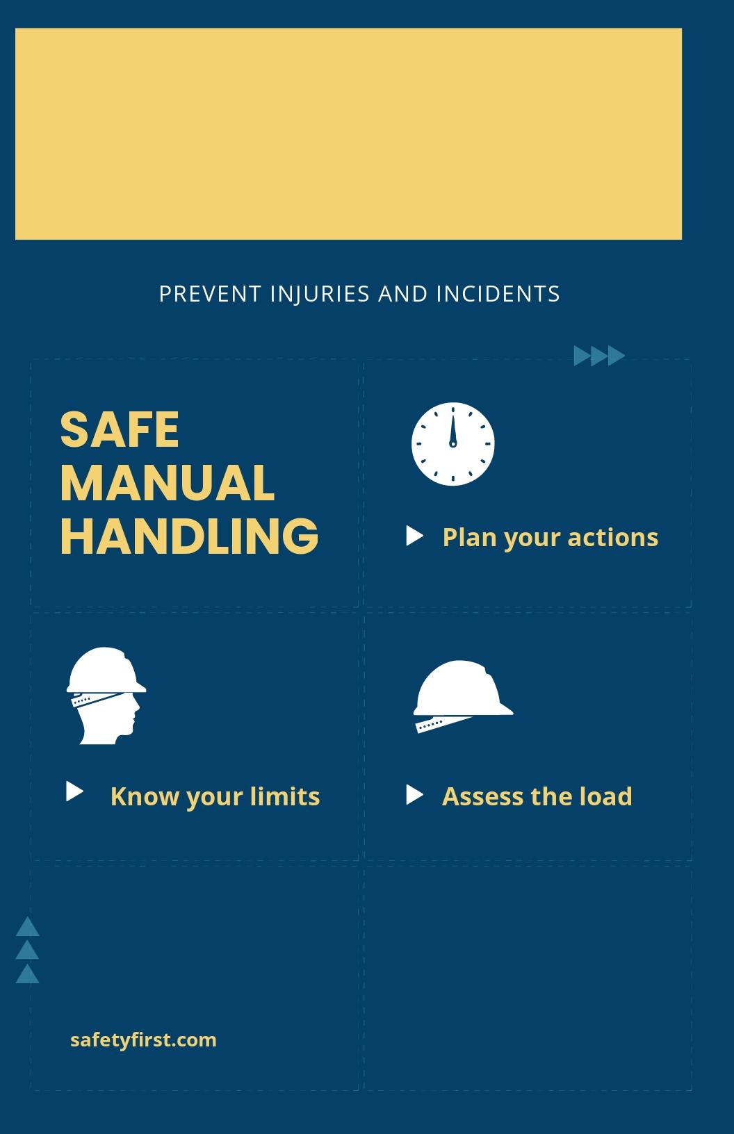 Safe Manual Handling Poster Template