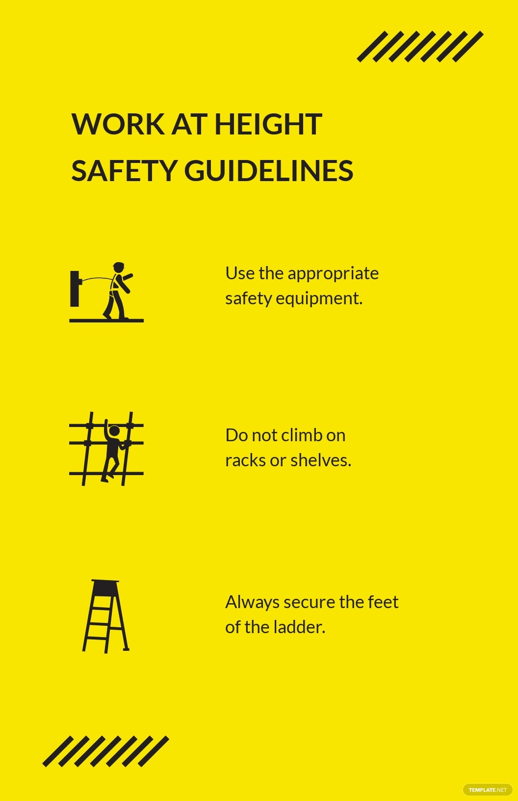 Free Work at Height Poster Template.jpe