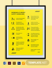 Free Work at Height Poster Template