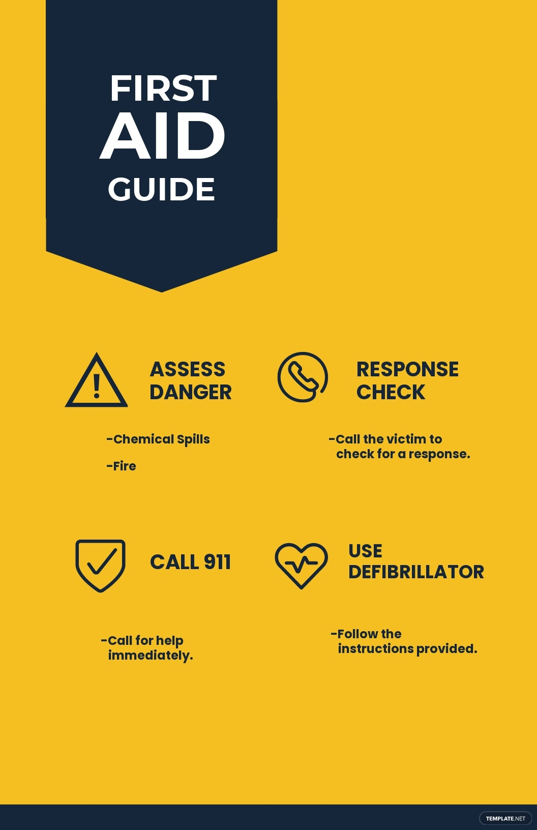 Workplace First Aid Guide Poster Template