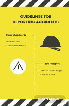 Accident Reporting Poster Template
