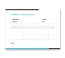 Employee Weekly Status Report Template