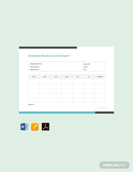 Free-Employee-Weekly-Status-Report-Template