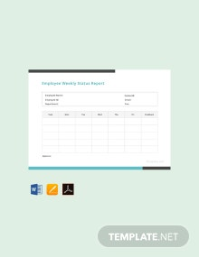 Free Employee Weekly Status Report Template