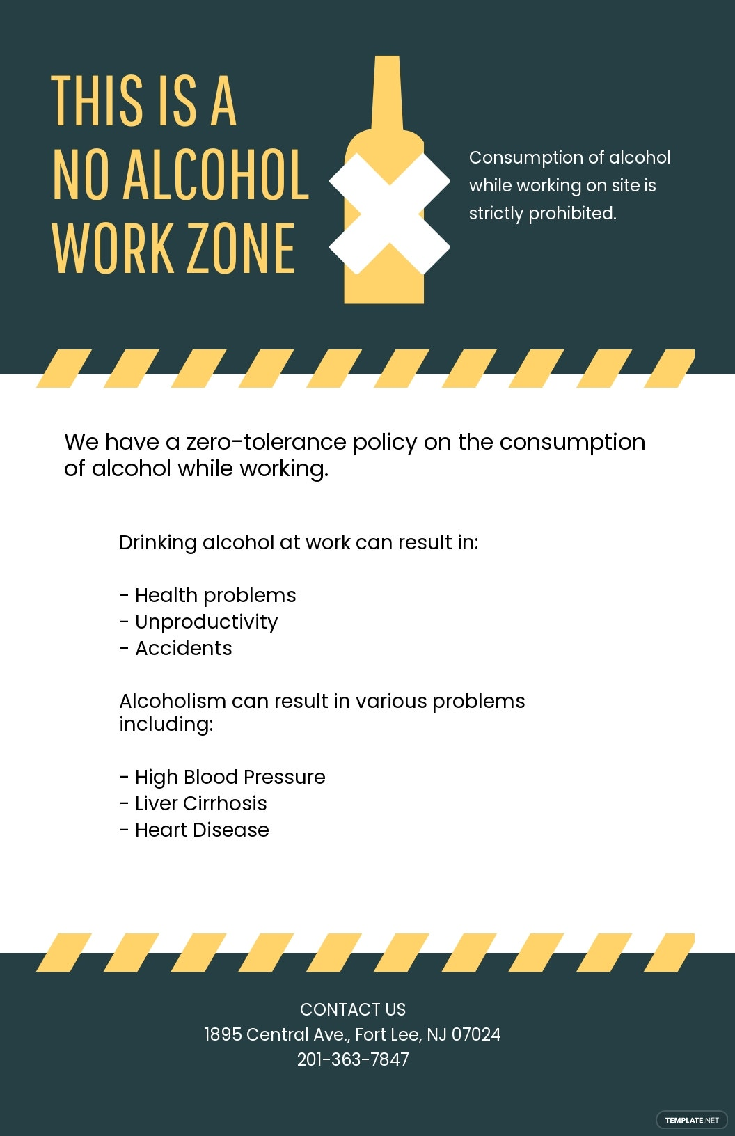 Free Editable Alcohol at Work Poster Template.jpe