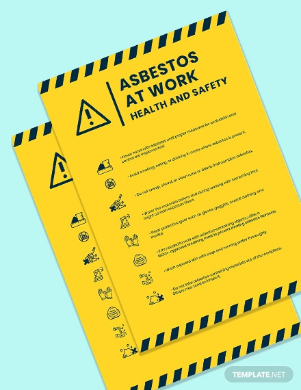 Asbestos At Work Health And Safety Poster template