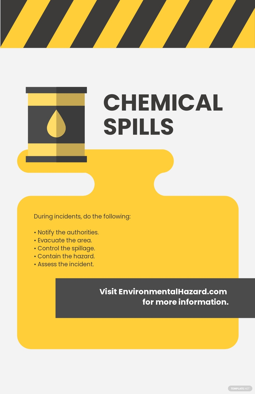 Chemical Spills Poster Template