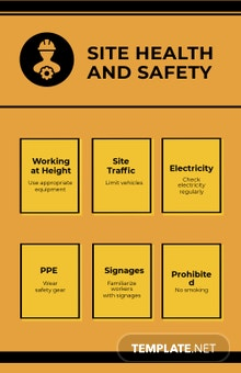 Construction Site Health and Safety Poster Template