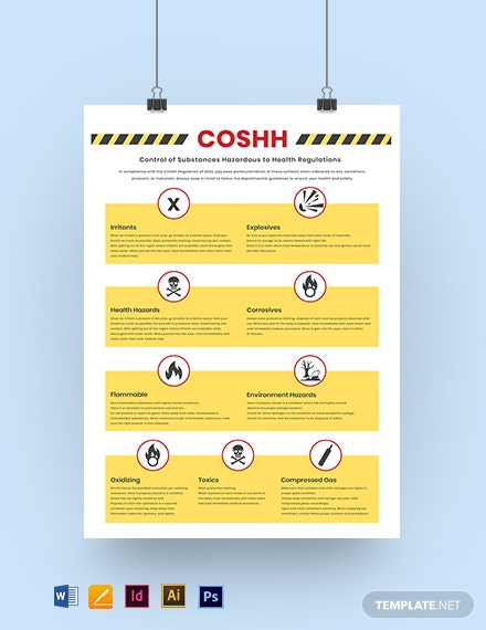COSHH Poster Template