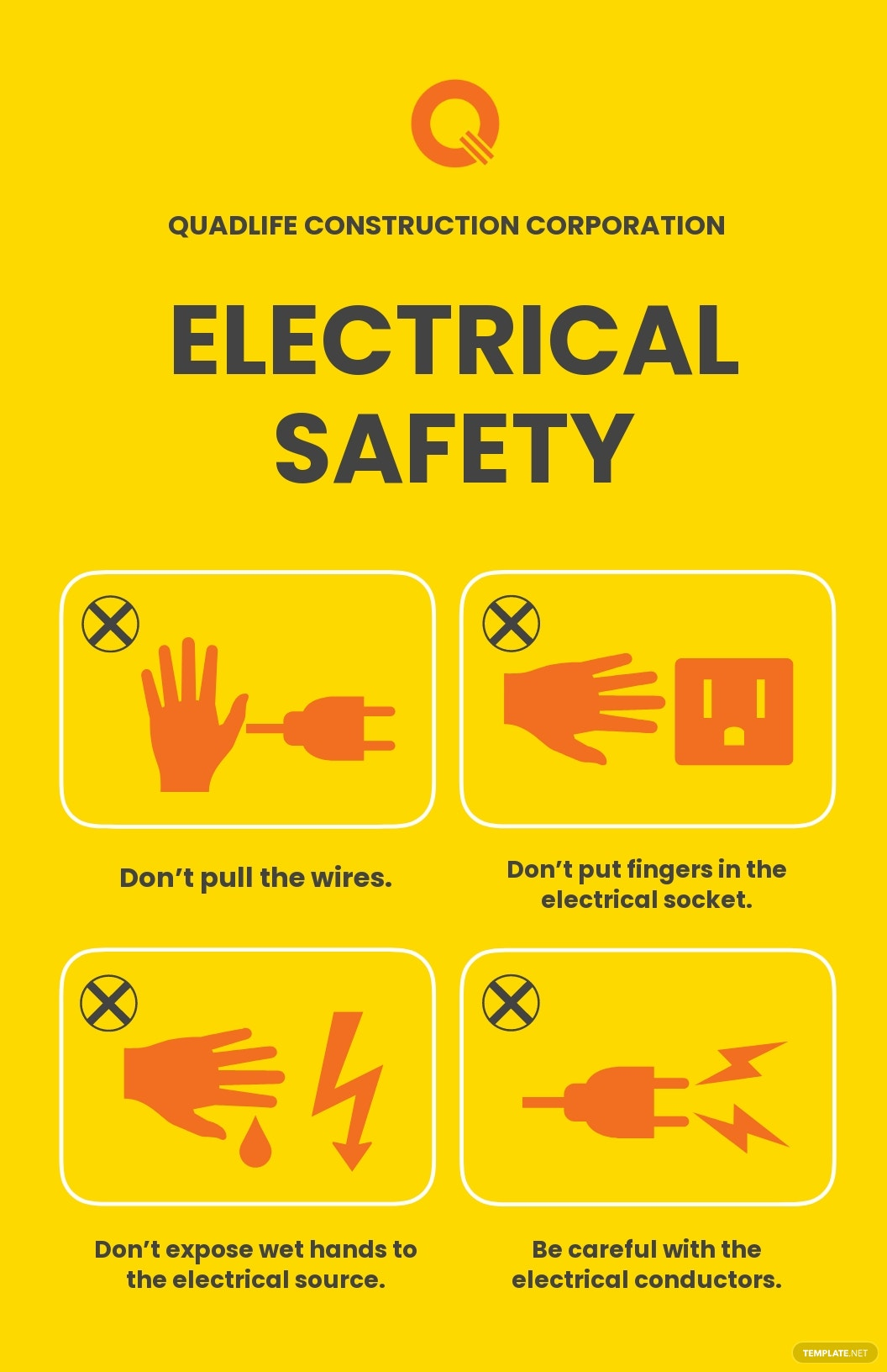 Electrical Safety Poster Template [Free JPG] - Illustrator, InDesign, Word, Apple Pages, PSD
