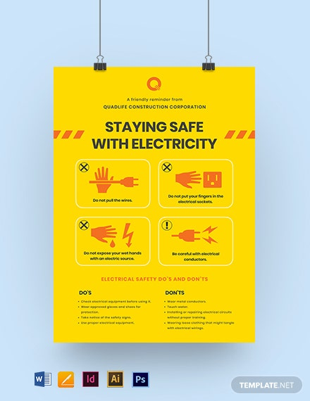 Electrical Safety Poster Template