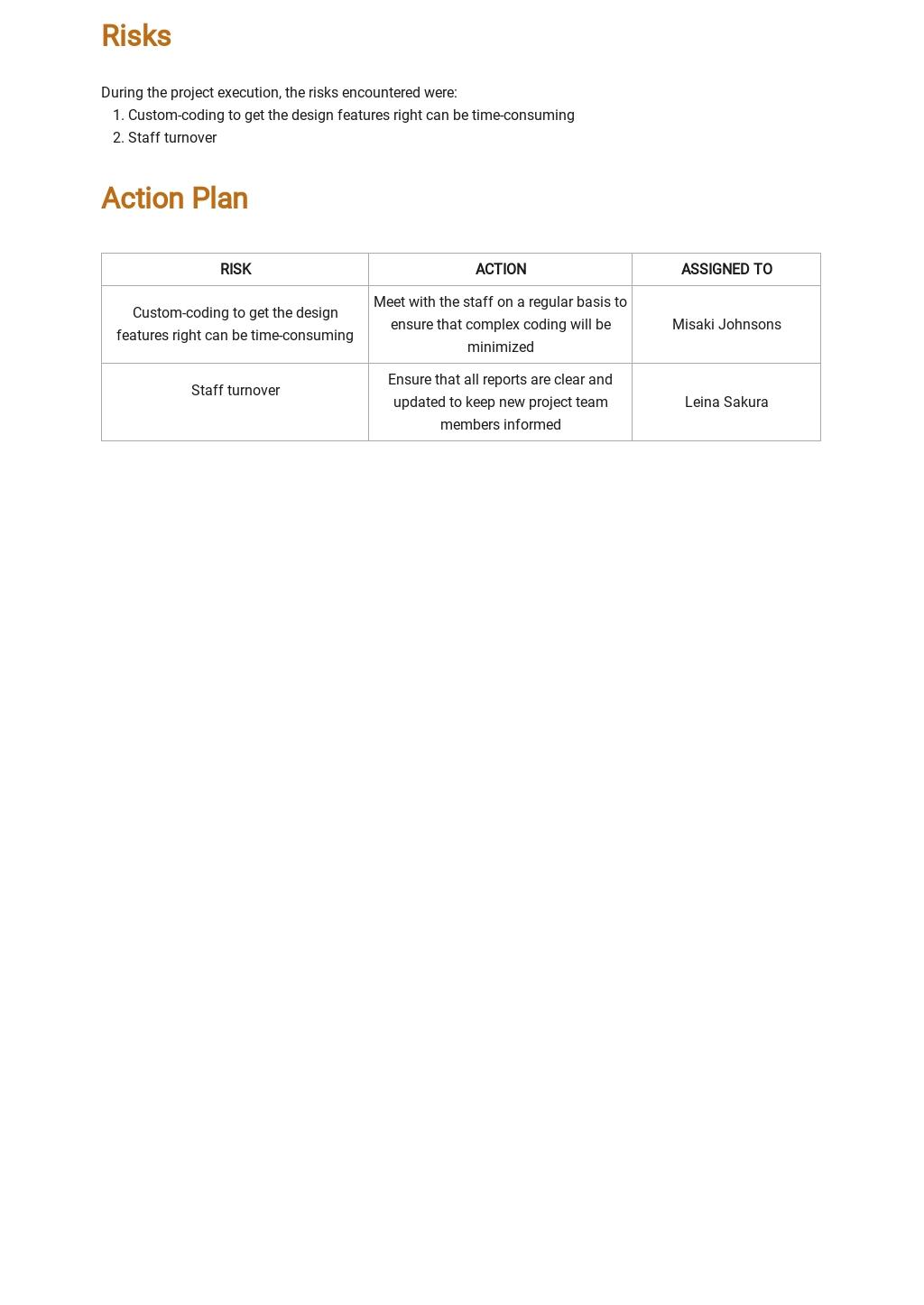 Free Generic Weekly Status Report Template 2.jpe