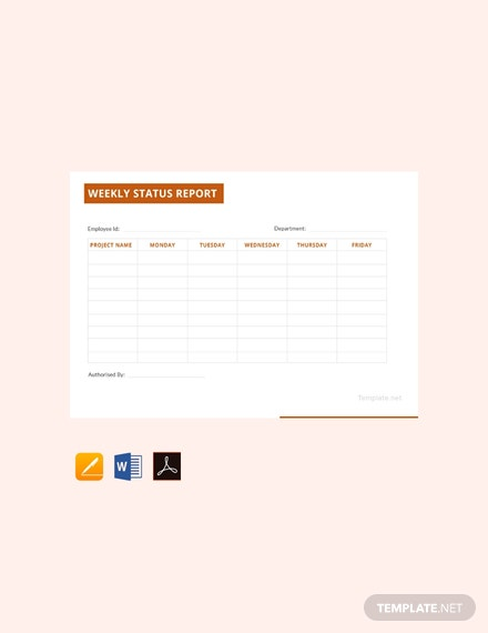 free generic weekly status report template 440x570 1