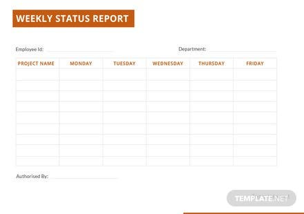 rdlc template - simple weekly status report template free templates