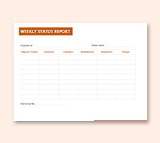 Generic Weekly Status Report Template