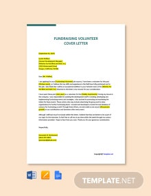 Free Fundraising Volunteer Cover Letter Template