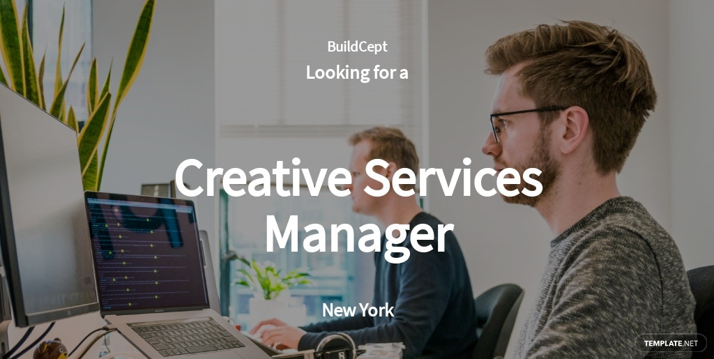 Creative Services Manager Job Ad and Description Template