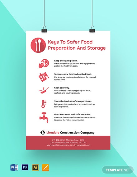 Food Preparation and Storage Poster Template