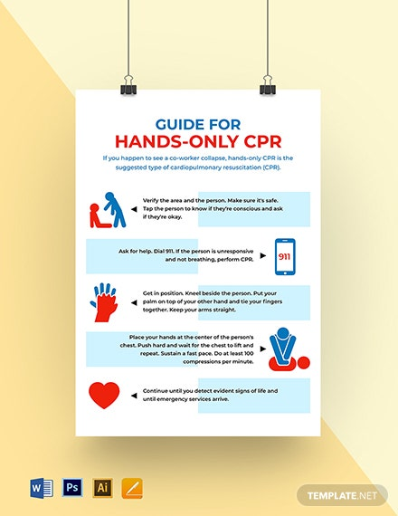 Hands Only CPR Poster Template