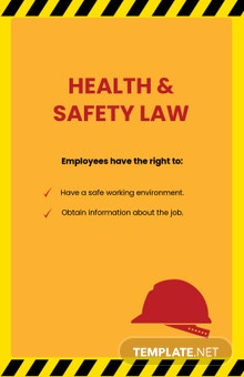 Health & Safety Law Poster Template