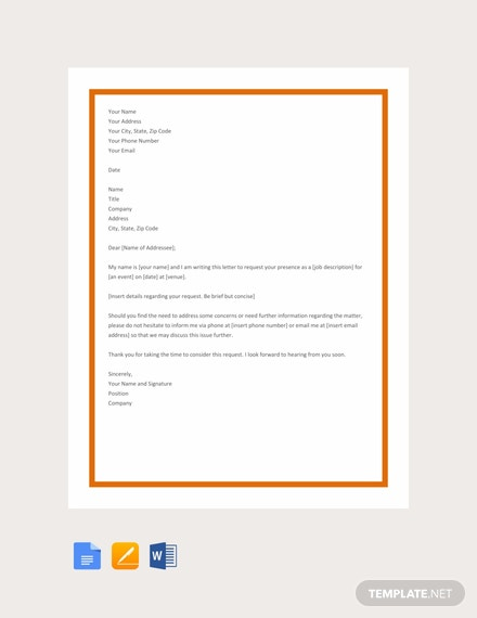 Free Request Letter Template