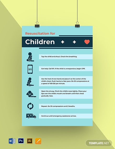 Resuscitation of Children Poster Template