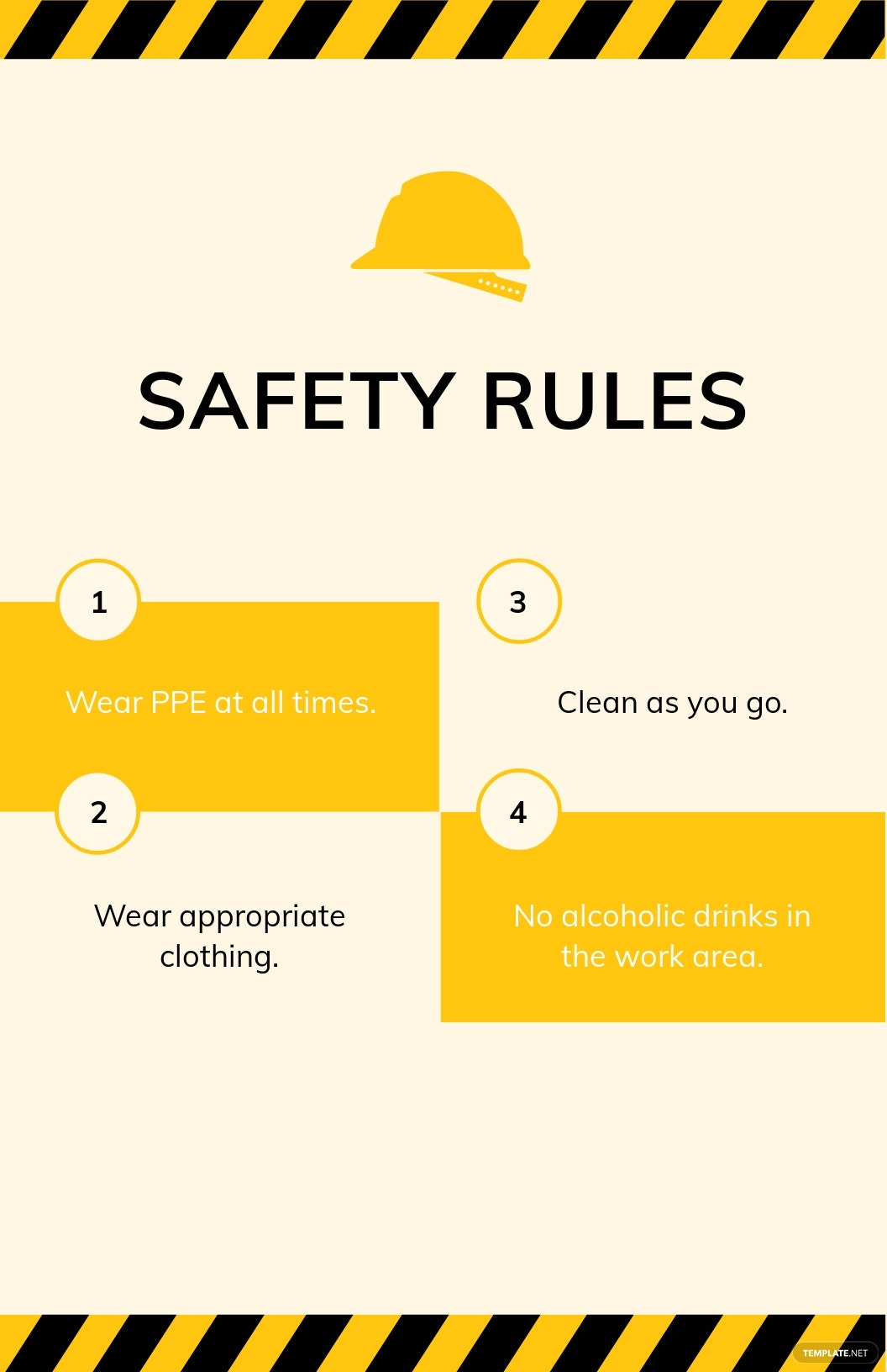 Free Safety Rules Poster Template.jpe