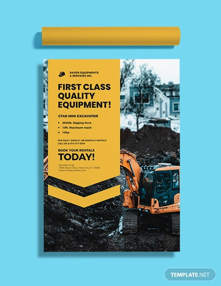 Construction Equipment Poster Format