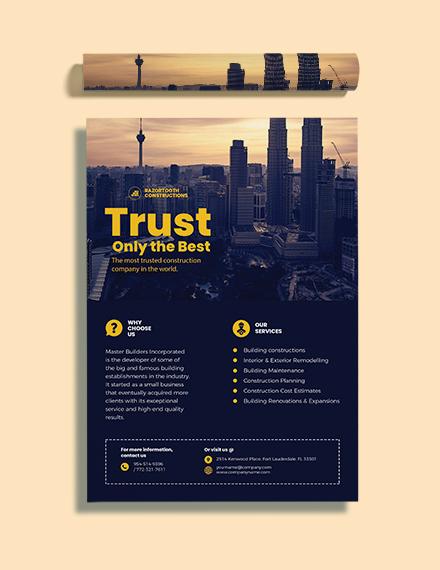 Building Construction Poster Format