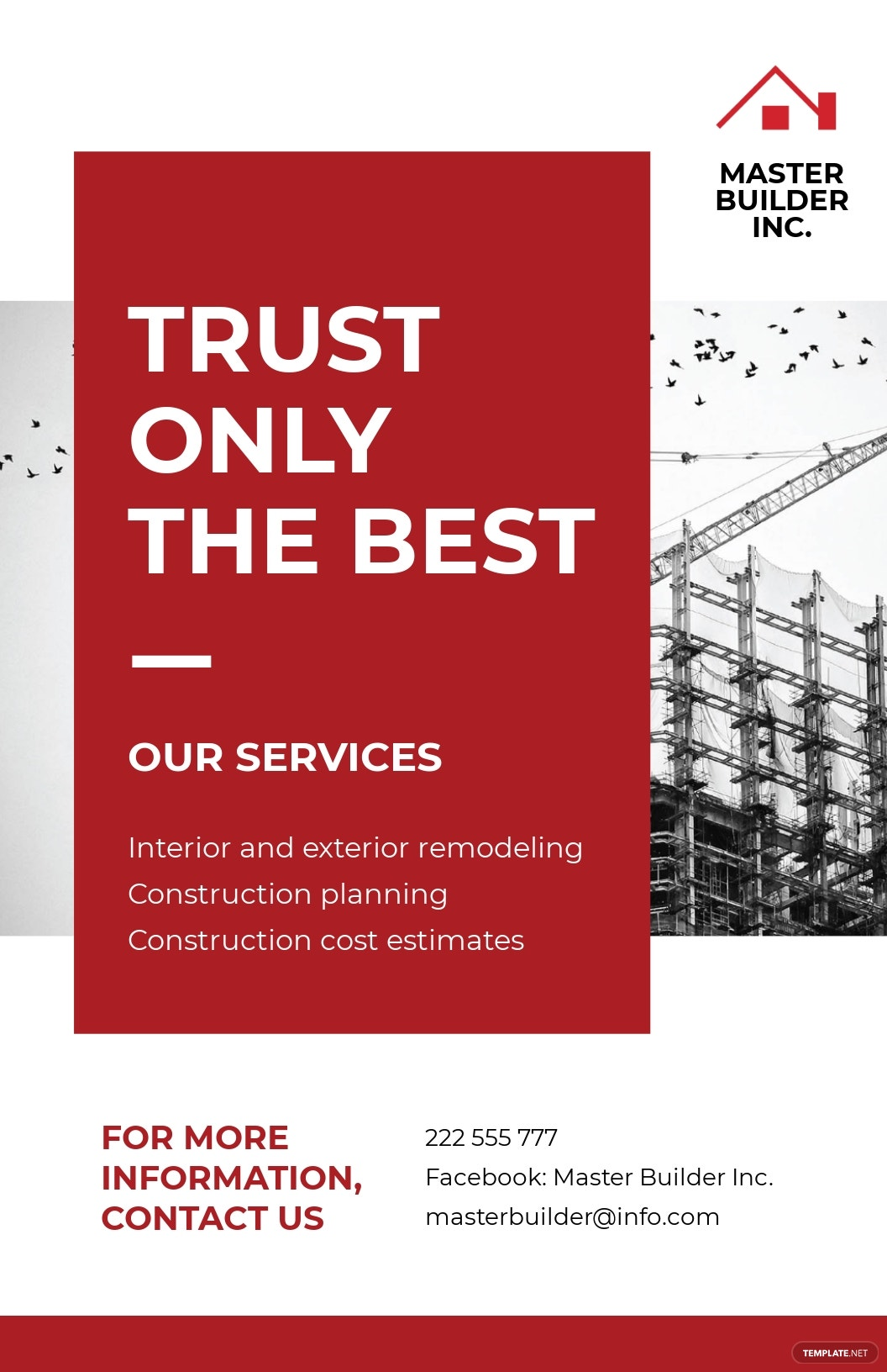 Construction Advertisement Poster Template [Free JPG] - Illustrator, InDesign, Word, Apple Pages, PSD