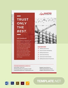 Construction Advertisement Poster Template