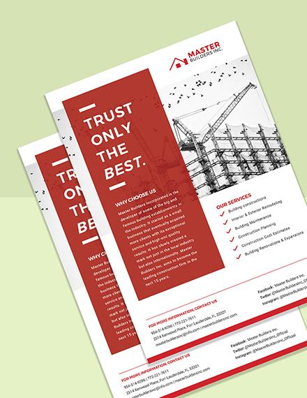 Construction advertisement Poster Template