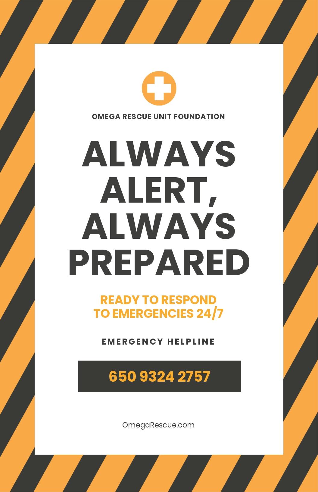 Helpline Poster Template