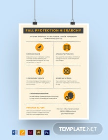 Fall Protection Safety Poster Template