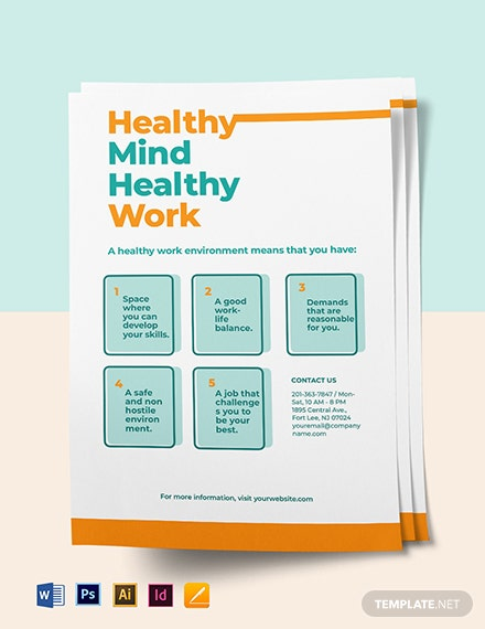 Occupational Health Poster Template