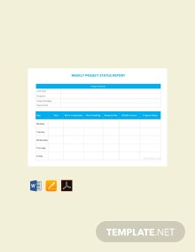 Free Weekly Project Status Report Template