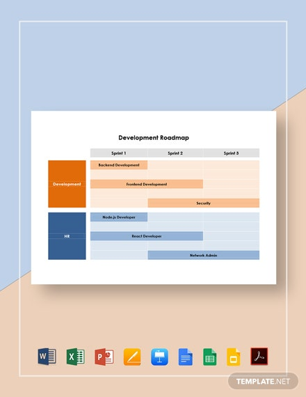 Free Simple Development Roadmap Template