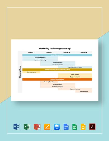 Marketing Technology Roadmap Template