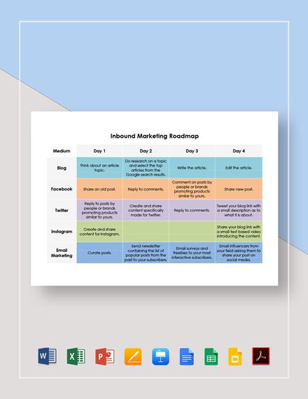 Inbound Marketing Roadmap Template