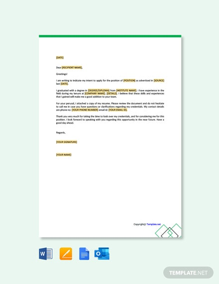 Free Simple Letter of Intent Template