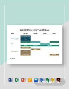 Business Development Plan Roadmap Template