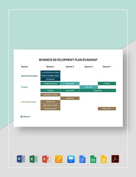 Business Development Plan Roadmap Template
