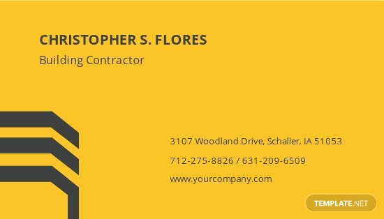 General Building Contractor Business Card Template 1.jpe