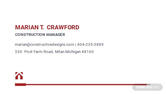 Construction Company Manager Business Card Template 1.jpe